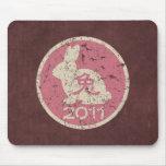 """Año del conejo 2011 """"vintage """" tapetes de ratón"""