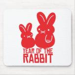 Año del conejo alfombrillas de raton