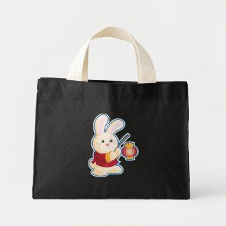 Año del conejo bolsas lienzo