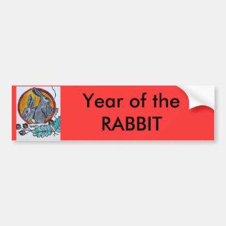 Año del conejo Bumpersticker o de muestra Pegatina Para Auto