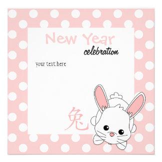 ¡Año del conejo Cutie en rosa Anuncios Personalizados
