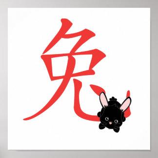 Año del conejo Cutie Posters