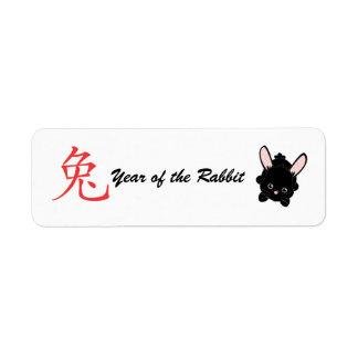 Año del conejo etiquetas de remite