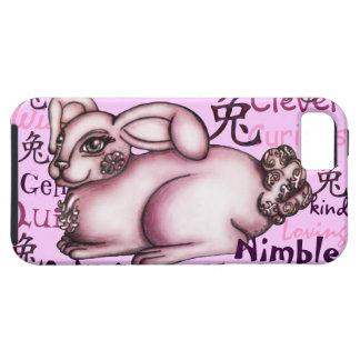 Año del conejo iPhone 5 cárcasas