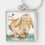 Año del conejo llaveros