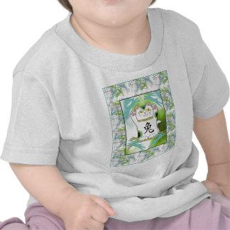 Año del conejo Neko en azul de la piscina del oasi Camisetas