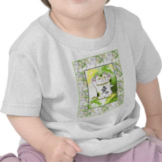 Año del conejo Neko en cal del limón Camisetas
