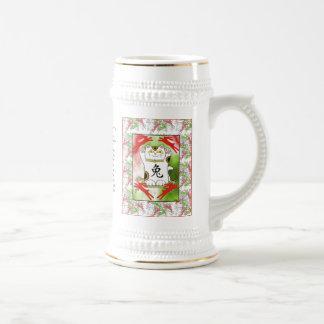 Año del conejo Neko en taza del rojo cereza