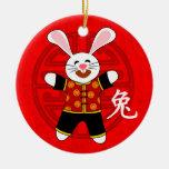 Año del conejo ornamento para reyes magos