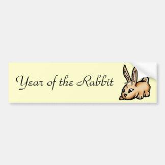 Año del conejo pegatina para auto