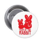 Año del conejo pin