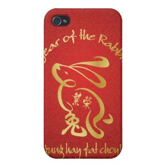 Año del conejo - prosperidad iPhone 4 cárcasa