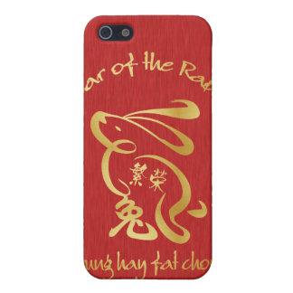 Año del conejo - prosperidad iPhone 5 protectores