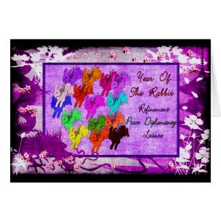 Año del conejo tarjeta de felicitación