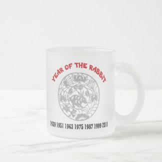 Año del conejo taza cristal mate
