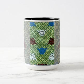 Año del conejo taza de café de dos colores