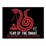 Año del corte del papel chino de la serpiente