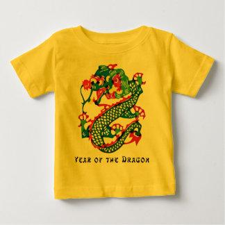 Año del corte del papel de la camiseta del dragón polera