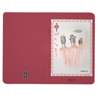 Año del diario del bolsillo de la cabra cuadernos