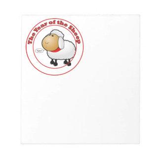 Año del dibujo animado de las ovejas blocs de notas