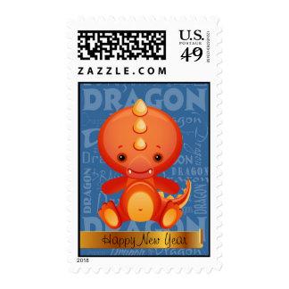 Año del dibujo animado del arte de la palabra del sellos