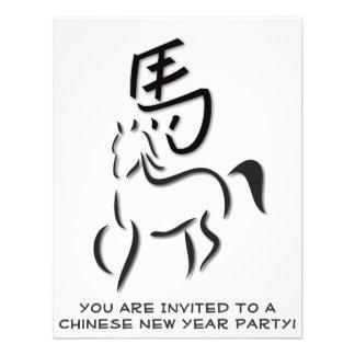 Año del dibujo de la caligrafía del caballo comunicados