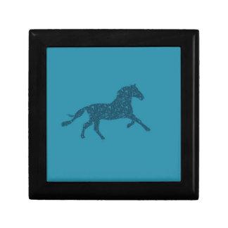 Año del diseño gráfico del caballo caja de joyas