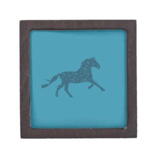 Año del diseño gráfico del caballo caja de joyas de calidad