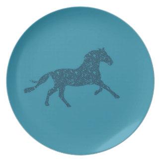 Año del diseño gráfico del caballo plato de comida