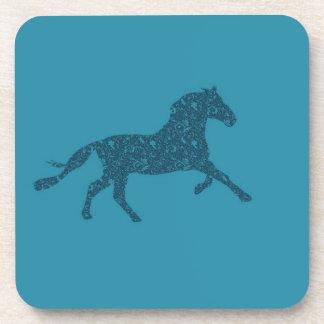 Año del diseño gráfico del caballo posavasos de bebida