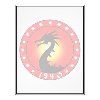 """Año del dragón 1940 folleto 8.5"""" x 11"""""""