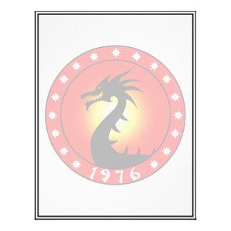 """Año del dragón 1976 folleto 8.5"""" x 11"""""""