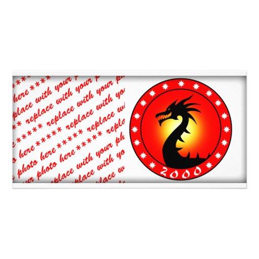 Año del dragón 2000 tarjetas personales