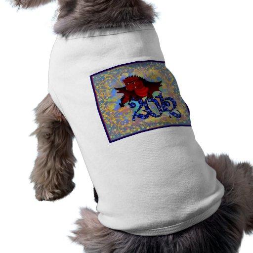 Año del dragón 2012 camisetas de perrito