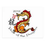 Año del dragón 2012 (chino) postal
