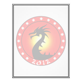 """Año del dragón 2012 folleto 8.5"""" x 11"""""""