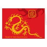 Año del dragón 2012 tarjetón