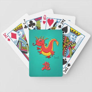 Año del dragón barajas de cartas