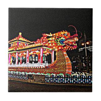 Año del dragón en San Francisco Azulejo Cuadrado Pequeño