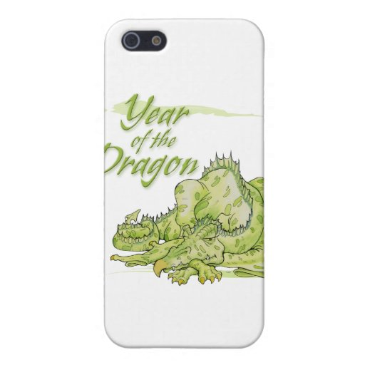 Año del dragón iPhone 5 cárcasa