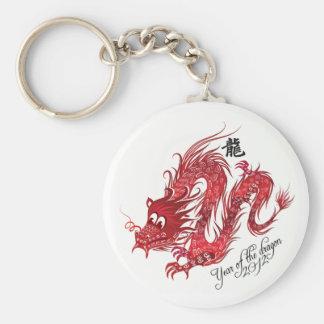 año del dragón llavero redondo tipo pin