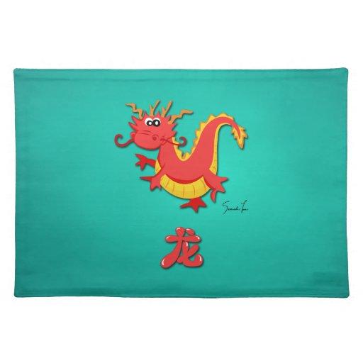 Año del dragón manteles