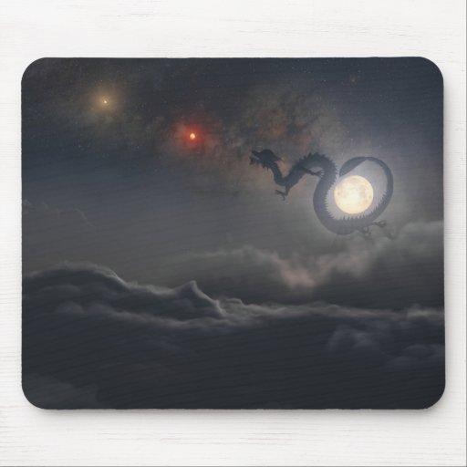 Año del dragón (noche) Mousepad