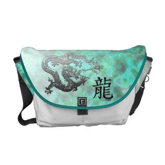 Año del dragón: Nubes de plata y ciánicas Bolsa Messenger