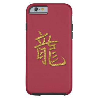 año del dragón - oro funda de iPhone 6 tough