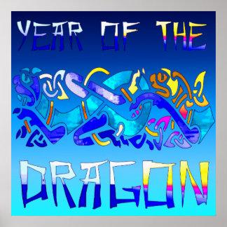 Año del dragón impresiones