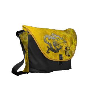 Año del dragón: Plata y llama de Sun Bolsas De Mensajería