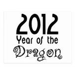 Año del dragón postales