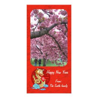 Año del dragón tarjetas fotograficas personalizadas