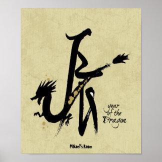 Año del dragón - zodiaco chino poster